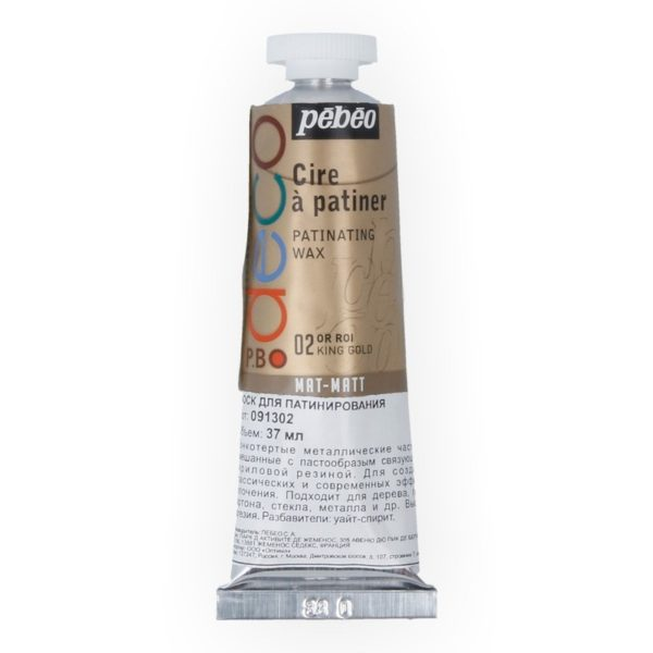 Металлическая краска-вакса Pebeo/туба 37мл