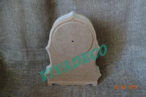 Часы каминные из МДФ с накладкой - медальоном